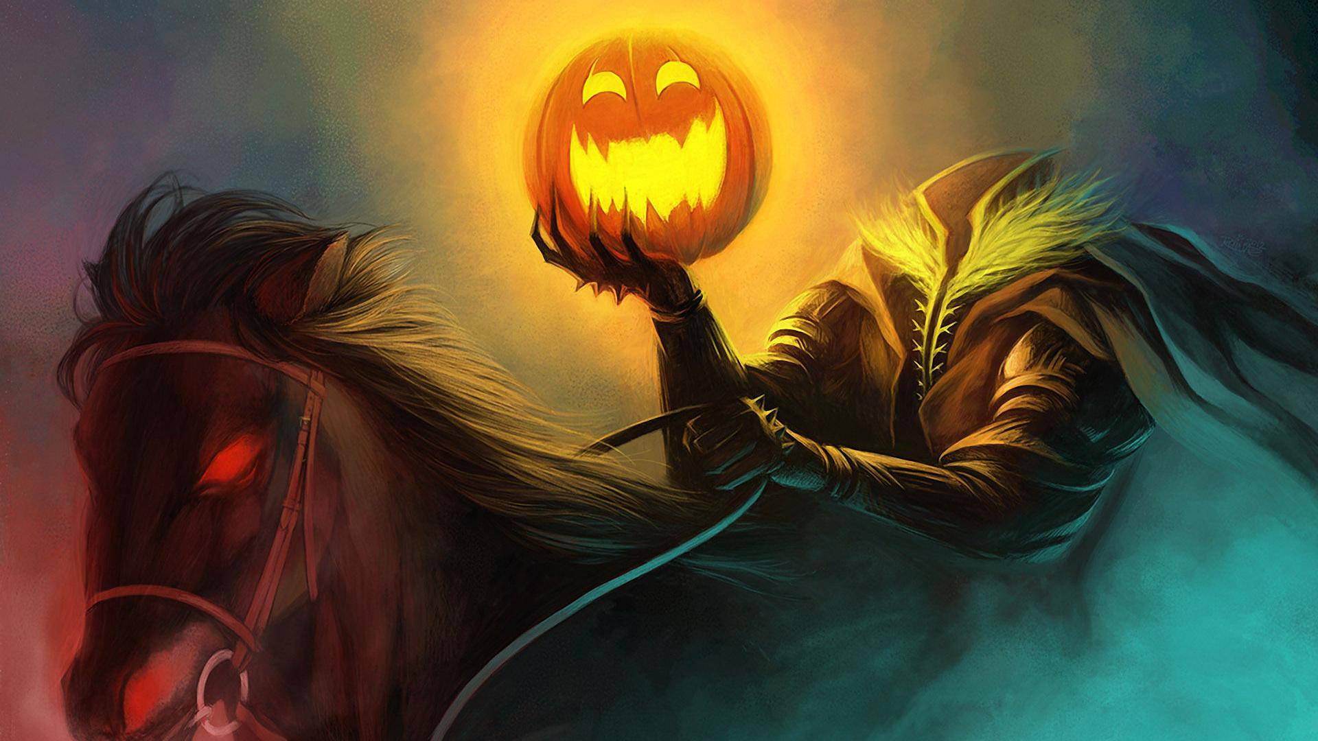 Halloween: Jack-o'-lantern e il cavaliere senza testa
